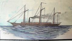 """The Nixe - the """"yatch"""" owned by l'Arxiduc Luis Salvador d'Austria (1847 - 1915) in Mallorca c. 1910."""