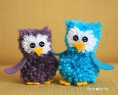 Pom Pom Owls - Repeat Crafter Me