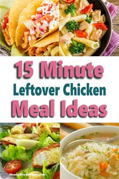 Looking for quick and easy meal ideas? Well, if you've got leftover chicken sitting in your fridge then you're in luck. There are so many delicious chicken recipes you can make with pre-cooked or leftover chicken you can add to your meal plan. These 15-minute meal ideas are perfect when you need to get dinner on the table fast or whip up an easy lunch and are so good your family will love them!! Leftover Chicken Recipes, Yummy Chicken Recipes, Delicious Dinner Recipes, Yum Yum Chicken, Family Meal Planning, Budget Meal Planning, Meal Planning Printable, Make Ahead Meals, Quick Easy Meals