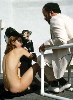 Nastassja Kinski with Marlene Dietrich doll and director James Toback, HollywoodPlayboy, May 1983Photographer: Helmut Newton (via algibeira, silk-rayon)