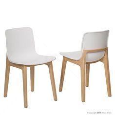 Set of 2 - Elliot Dining Chair - White 7% OFF | $279.00 - Milan Direct