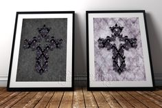 Stunning as a pair! Beautifully intricate designs with a sumptuous feel for your alternative home decor #RockChicBoutique #Gothic #WallArt