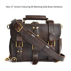It's back! This is classic, timeless briefcase has returned to Marlondo's product catalog after a hiatus. Our leather compliments this beautiful design and is a