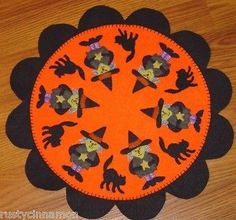 a brown trout penny rug wool creative and brown - Halloween Rug