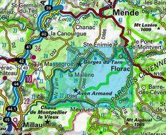 Gorges du Tarn . Florac, sur le Vibron (Lozère, near NImes, France) - la capitale du Parc national des Cévennes.