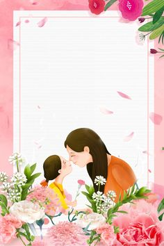 Mother S Day Warm Pink Flower Background Flower Background Images, Mother's Day Background, Chinese Background, Cute Wallpaper Backgrounds, Flower Backgrounds, Cute Wallpapers, Mother Daughter Art, Mother Art, File Decoration Ideas