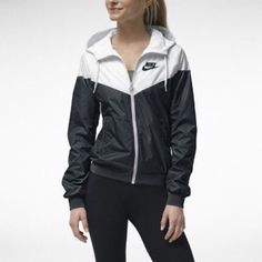 Nike Windrunner Jacket Very sought after Nike jacket in black and white. Brand new without tags, so perfect condition! Fits snugly for a small. Not looking to trade, thanks! Nike Jackets & Coats