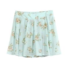 Vintage Mini Skirt in Floral Print (155 BRL) ❤ liked on Polyvore featuring skirts, mini skirts, bottoms, saias, clothes - skirts, flared skirt, green pleated skirt, vintage skirts, green pleated mini skirt and mini skirt