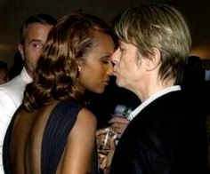 David Bowie and Iman 2002 serpentine party London Iman Bowie, Iman And David Bowie, David Bowie Starman, Mr And Mrs Jones, David Jones, Most Beautiful Man, Beautiful Couple, David Bowie Pictures, Interracial Family