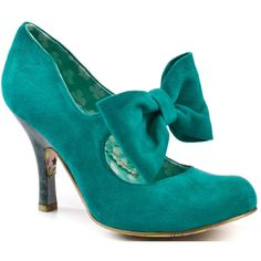 Irregular Choice Tea And Cakes - Turq ($110) ❤ liked on Polyvore