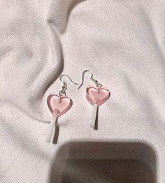 Ear Jewelry, Cute Jewelry, Jewelery, Jewelry Accessories, Diy Jewellery, Jewellery Storage, Accesorios Casual, Cute Earrings, Heart Earrings