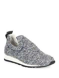 Derek Lam 10 Crosby June Melange Knit Slip-On Sneakers