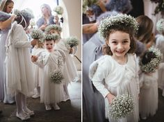 Gypsophila Flower Crowns And A Beautiful Bespoke Gown