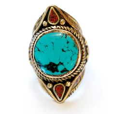 Ornate Turquoise Ring