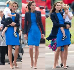 """Kate Middleton in a Stella McCartney dress and Smythe blazer paired with L.K.Bennett """"Florete"""" court shoes for the International Air Tattoo in Glucestershire, England on July 8, 2016."""