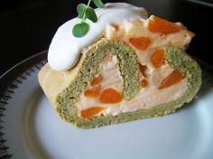 matcha & mandarin swiss roll