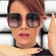5420f73df77 OVERSIZED VINTAGE RETRO Style Flat Lens Crystal Square Octagon Frame SUN  GLASSES