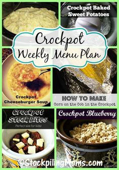 This Crockpot Weekly Menu Plan that has easy to follow recipes for your family, will help you save time and money!