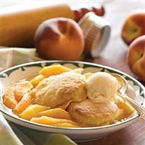 Peach Cobbler with Biscuit Topping-White Lily