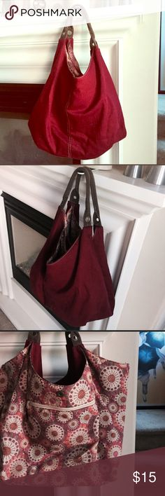 Cute Boho Purse in a Color on Trend this Season! Large Maroon/Burgundy Boho Tote/Purse with small interior pocket. Very popular/trendy color for fall/winter 2016-2017! Would make a great Christmas gift! I'm always open to offers! FREE with purchase of equal or less value! Urban Outfitters Bags Hobos