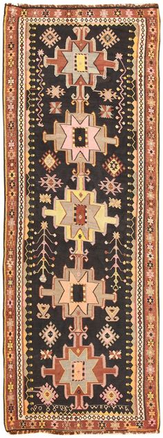 View this beautiful vintage Turkish Kilim Runner Rug #50422. This vintage carpet is available at Nazmiyal Collection in New York City.