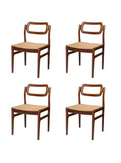 Set Of Four Danish Mid Century Rosewood Dining Chairs