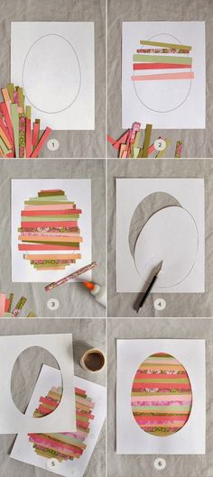DIY : Paper Strip Easter Art