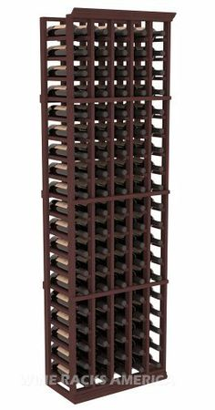 Wine Racks - Wine Racks America Redwood 4 Column Display Corner Cellar Kit 13 Stains to Choose From ** Continue to the product at the image link. Wine Bottle Storage, Bottle Display, Wine Bottles, Wine Cellar Racks, Wine Cellars, Oak Stain, Walnut Stain, Corner Wine Rack, Wine Racks America