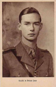 Hereditary Prince Jean, future Grand Duke of Luxembourg, in uniform. Jean joined the British Army after the invasion of his country by Germany in June 1940. He became a captain by 1944. Jean landed in Normandy on June 11, 1944 and took part in the Battle of Caen, the liberation of Brussels, and the liberation of his own nation on Sept. 10 1944. After freeing his homeland the young prince continued the fight, participating in the Battle of Arnhem and the Allied invasion of Germany.