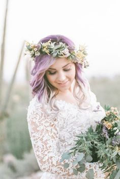 23 Brides Whose Colorful Hair Will Give You Life