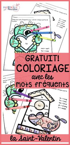 My Favourite French Valentine's Day Resources - My Favourite French Valentine's Day Resources - Valentines Day Coloring, Valentines Art, Saint Valentine, Valentine Ideas, French Teaching Resources, Teaching French, Teaching Ideas, French Language Learning, Learning Spanish