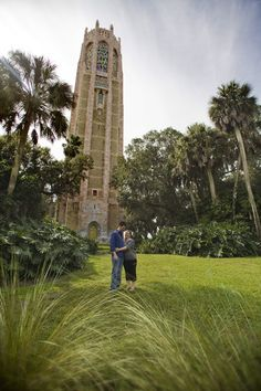 engagement photos at Bok Tower in Lake Wales, FL