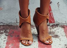 Simple shoes that go with everything. Love this tan colour and pale polish