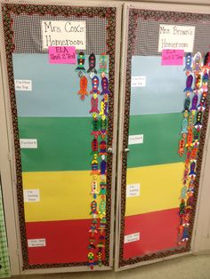 Students colored their own rocket to move on their interactive classroom data wall.
