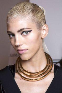 Spring 2015 makeup trends: exaggerated black eyeliner. Cusnie et Ochs Imaxtree  - HarpersBAZAAR.com