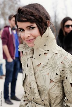 Miroslava Duma in Valentino coat at Paris fashion week (by Paris in Four Months) v