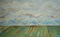 Fallow Ground Farm Field Landscape Painting by TheFarmhousePorch, $125.00