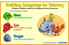 Building Language for Literacy :: Home | This site provides several games that allow students to practice vocabulary and rhyming while learning words having to do with places around a community.