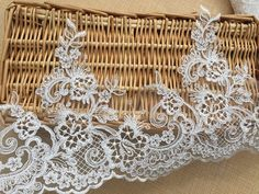 1m 8.5cm light yellow embroidered guipure lace bridal dress prom trim veil net