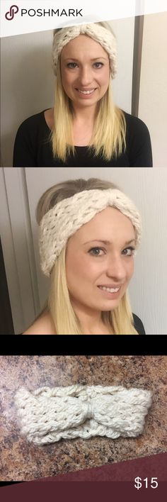 Handmade Knitted Headband Handmade Knitted Headband in off white. Very stylish! Great gift! Can make per order on your preferences of color if you message prior to purchase :) Accessories Hair Accessories