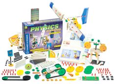 Physics Workshop and thousands more of the very best toys at Fat Brain Toys. Force=mass x acceleration. Factor in fun with 36 models & 37 experiments. Witness physics firsthand. Build a wind power generator, crane, clock, sail car, robot, pin ball game, centrifuge, force scale, more!