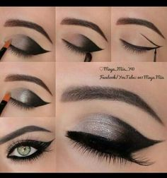 Black and silver make up