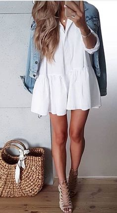Popular Summer Outfit Ideas Looks Copy Now - Fashionable - Summer Outfits - Modetrends Fall Outfits 2018, Stylish Summer Outfits, Trendy Outfits, Fashion Outfits, Autumn Outfits, Womens Fashion Casual Summer, Cheap Fashion, Dress Fashion, Retro Fashion