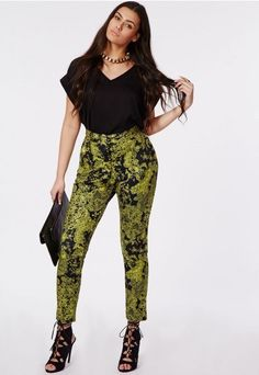 Lace Print Tapered Trousers, $43.68 | 17 Amazing Plus-Size Looks You're Definitely Going To Want To Wear