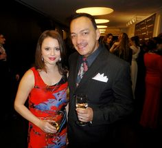 Anthony Rubio and Sasha Cohen attends Charity Meets Fashion Gala to benefit Honor Vitae