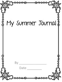Have your students keep a journal of what they do this summer to develop those narrative writing skills. If you give it to the students coming into your grade, then they can bring it when they come to school that first week back. I am going to be adding to this product, so you will want to snap it up while it is free.