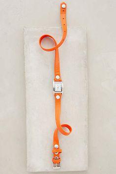 #lamercollections Orange Simple Wrap Watch - anthropologie.com #orangeisthenewblack