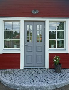 Small Cottage Homes, Barn Apartment, Outdoor Living, Outdoor Decor, Country Style, Exterior Design, Outdoor Gardens, Garage Doors, Sweet Home