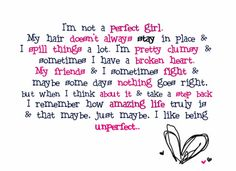 <3 I like being unperfect.(: