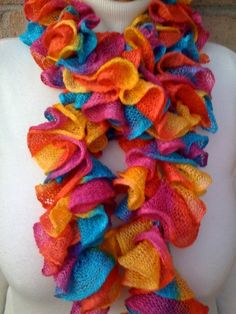 Simple & Sensational™ - Crochet a Ruffled Scarf with the Afghan or Tunisian Stitch, via YouTube.